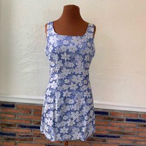 Vintage 90s floral mini dress size M